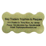 Bay Traders Trophies & Plaques Custom Label